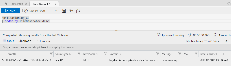 Send data to Azure Log Analytics from C# code