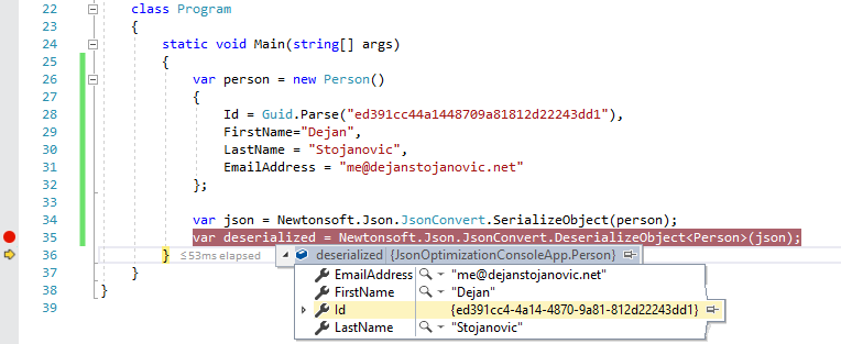 Reduce traffic by serializing JSON with different alias with