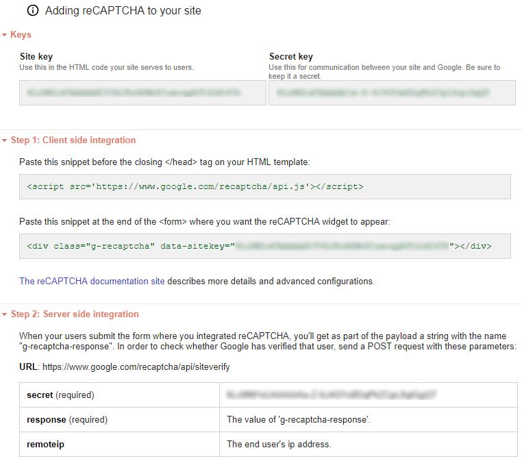 Using Google reCAPTCHA v2 in ASP NET Core Web Application