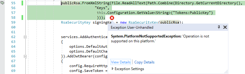 Rsa Xml Core Not Supported By Platform