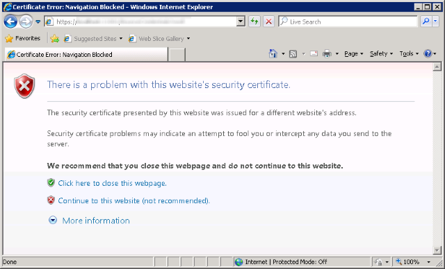 Bypass SSL certificate validation
