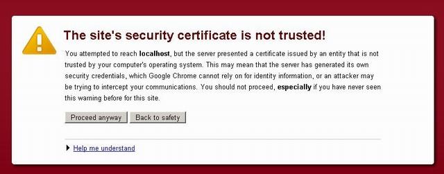 Bypass SSL certificate validation