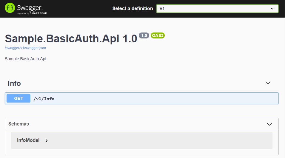 Basic Auth Swagger Noauth